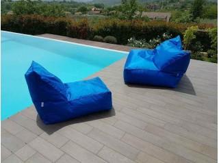 Poltrona sacco per esterno Shine blue