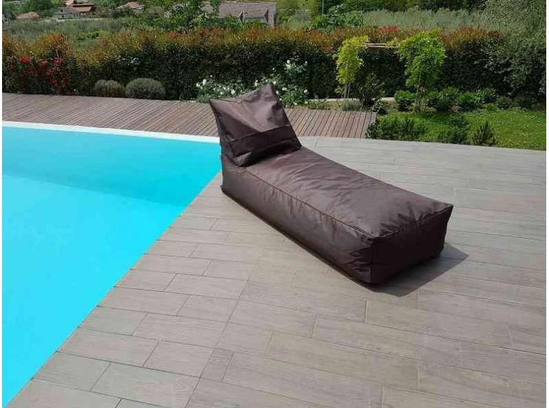 Cuscino gigante a lettino per esterno