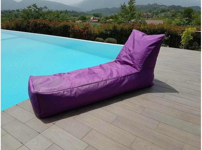 Cuscino a sacco a forma di lettino viola
