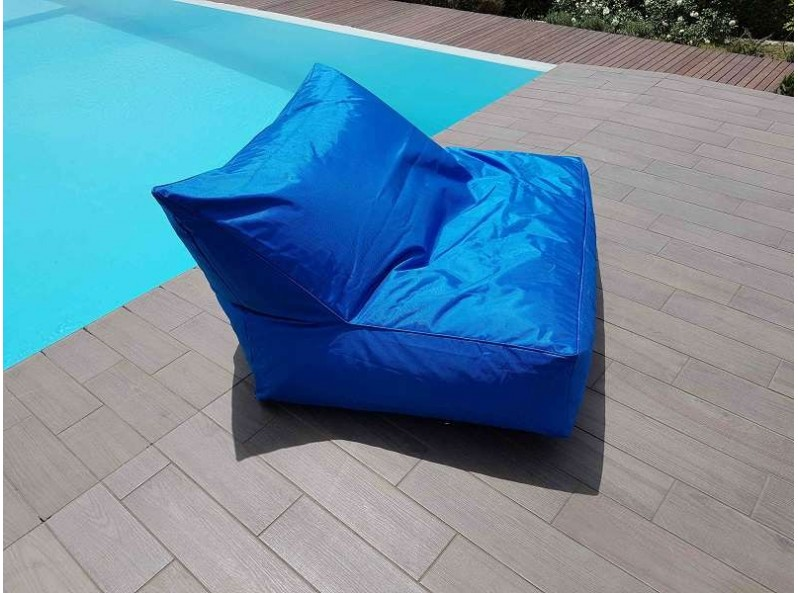 Cuscinone gigante da esterno in tessuto blue